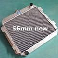 high performance 56mm custom aluminum alloy radiator for FORD CAPRI II MK1 2600/2800 V6 LHD US-SPEC M/T 1971 - 1974 - 1977