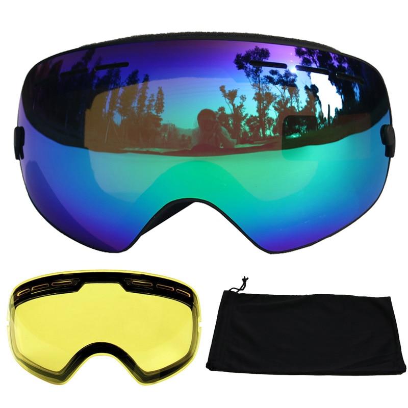 UV400 Anti-Fog-Ski-Skifahren Snowboard Googles Sonnenbrille Brille H6SH0WBT