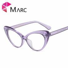 MARC WOMEN 2018NEW Optical fashion Plastic Black Plain purple glass spectacles Cat eye clear Glasses Frame Transparent 97568