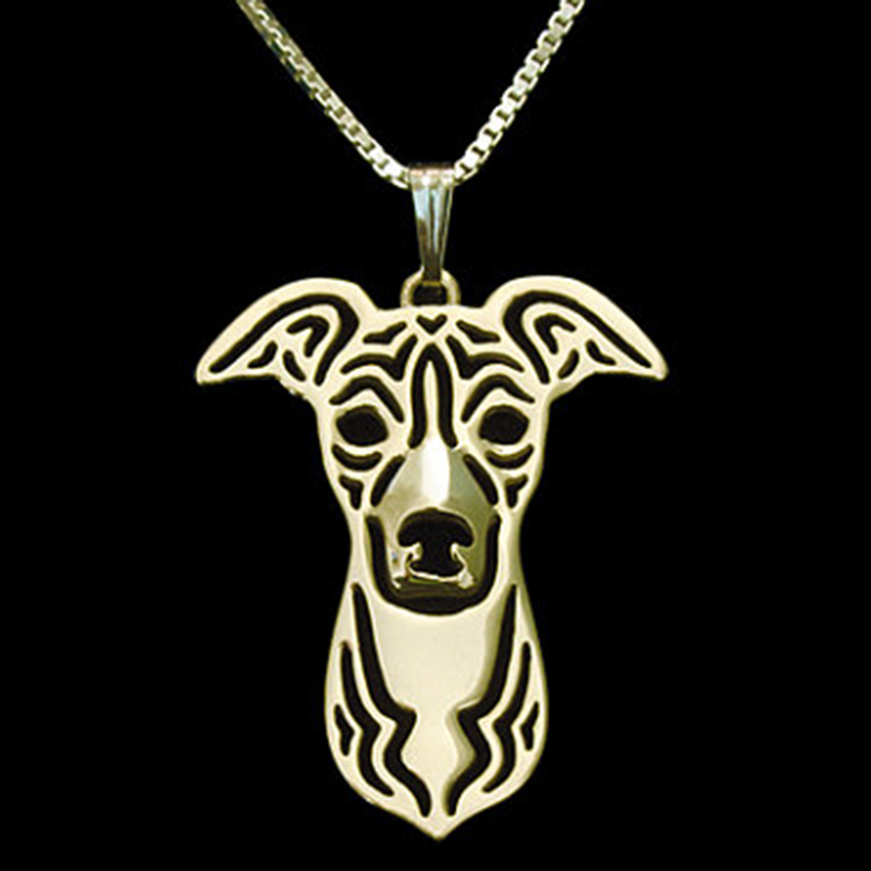 Greyhound Dog Pendant Necklace Gold-color Dog Charm For Pet Lovers Women Pet Memorial Animal Jewelry & Cloth Accessories 2017