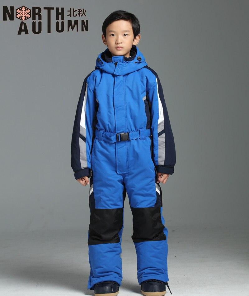 933019ee59 Warm Winter Ski Suit For Girls Snowboarding Set Kids Skiing Jumpsuit  Thermal Boy s Sport Suit Girl s