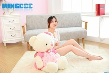 big size lovely teddy bear toy plush princess pink skirt teddy bear doll gift about 85cm