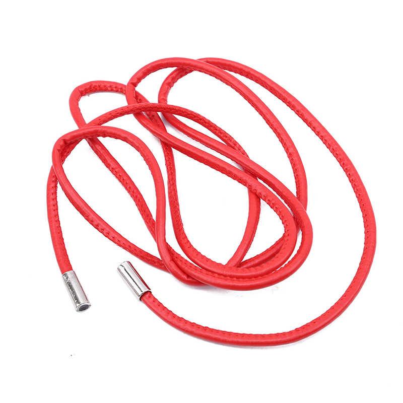 耐久性のあるシンプルなロープキャンディーカラーベルト金属革ロープ装飾ベルト野生のドレスベルト腰のチェーン