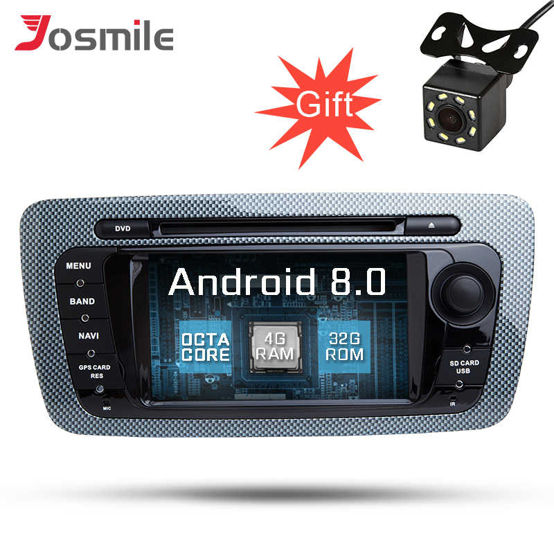 Android 8,0 8-ядерный Сенсорный экран автомобильный аудио dvd-плеер для Seat Ibiza 2009-2013 gps навигации стерео ради, сan-шина Wi-Fi система контроля давления в шинах OBD2