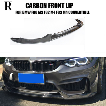 F80 F82 F83 M3 M4 Carbon Fiber VRS Style Front Lip for BMW F80 M3 Sedan F82 M4 Coupe F83 M4 Cabriolet 2012 - 2019 f32 f33 f36 f80 f82 f83 abs carbon fiber racing grille for bmw 4 series m3 m4 front grill gloss black m color 2 slat grills