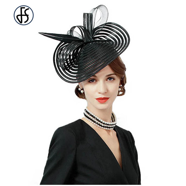 c2fdd8ca752ef Fascinators Black Wedding Hats For Woman Cocktail Party Feather Kentucky  Derby Pillbox Hat Chapeau Femme Sombrero Mujer Boda-in Fedoras from Women's  ...