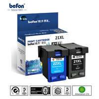 befon 21 22 XL Compatible Ink Cartridge Replacement for HP 21 22 21XL 22XL HP21 Deskjet F2180 F2280 F4180 F2200 F380 380 Printer