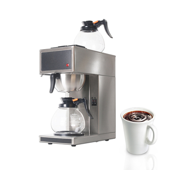 Automatic Coffee Machine Coffee Maker Commercial Electric Distilling Coffee Maker Espresso Coffee With 2pcs 1.8L Decanter coffee maker philips grind