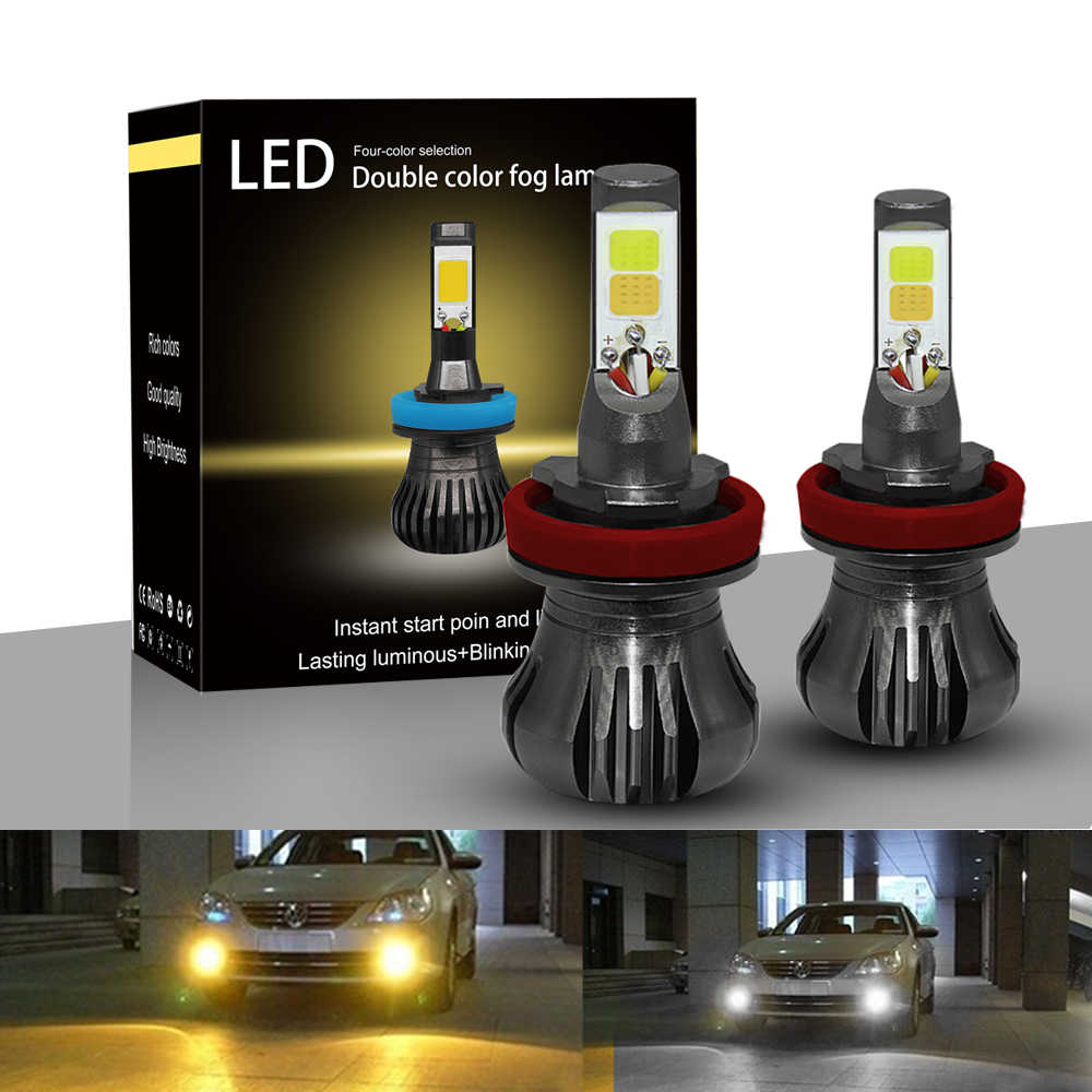 Car Led Headlight Light H11 880 H8 ampoule voiture H11 H3 H2 12V Fog Lamp Bulb 55w 6000k luces led para auto Daytime Driving