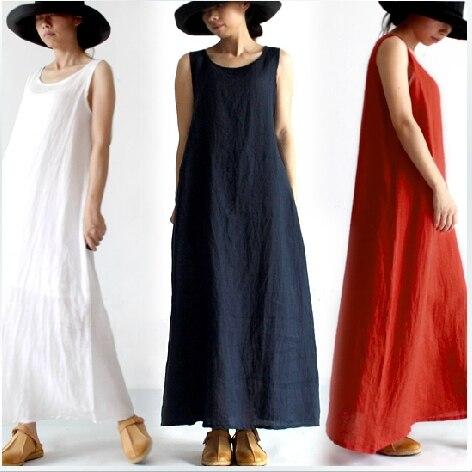 online retailer 0cc59 50832 US $28.0 |Clearup Magazzino prezzo Basso!!!! 2014 Nuovi Arrivi delle Donne  Vestiti Lunghi di Lino Abiti Ladies 'Vestiti di Un pezzo 16359-in Abiti da  ...