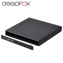 12.7mm USB 2.0 External DVD/CD-ROM Case For Laptop Desktop PC Optical Disk Drive SATA To SATA External DVD Enclosure