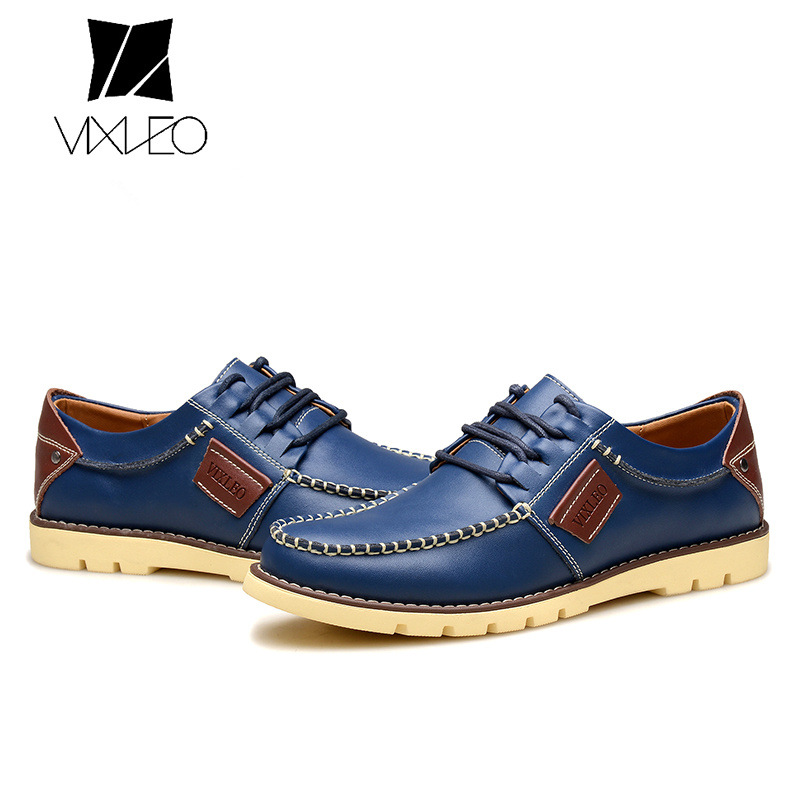 VIXLEO Men Shoes New Spring and Autumn Casual Fashion Safety Oxfords Breathable Flat Footwear pu Leather Waterproof Shoes Men baijiami 2017 new children solid breathable slip on pu casual shoes boys and girls spring summer autumn flat bottom shoes
