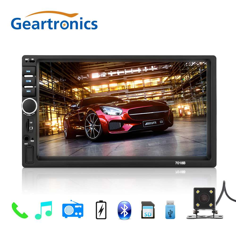 2 Din 7 Car Multimedia Player Universal Bluetooth Touch Screen MP5 Player Autoradio TF USB FM Radio Car Media Player auto radio ax 700 car style 0 8 display media player speaker w tf fm black