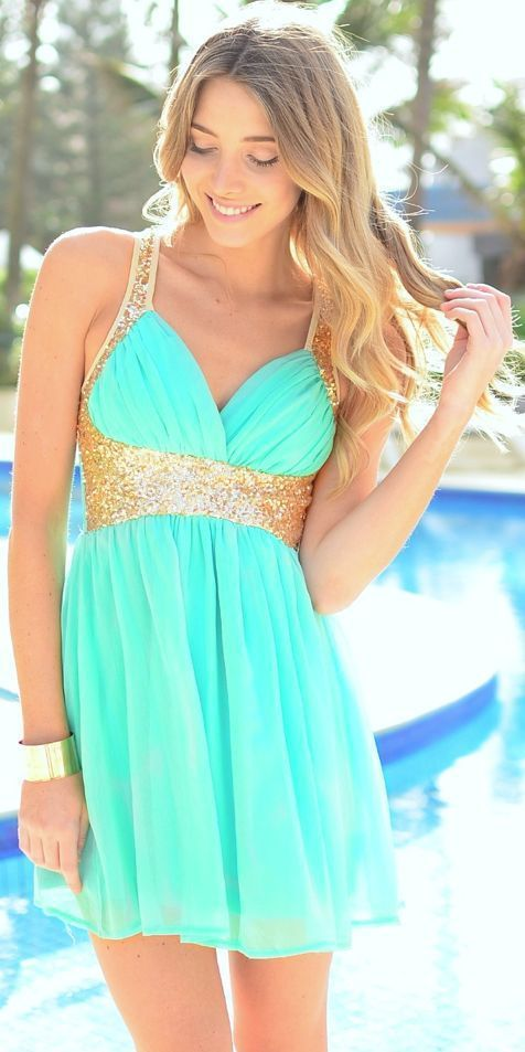 Short Cheap Homecoming Dresses With Sequined Straps Chiffon Skirt ...