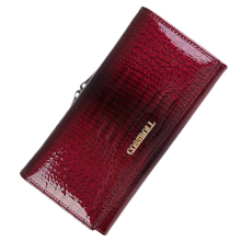 Genuine Leather Wallet Women Classic Alligator Hasp Long Wal