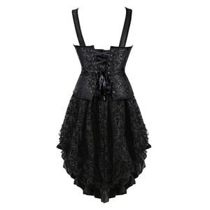 Image 3 - Caudatus レースコルセットストラッププラスサイズのビスチェ overbust コルセットスカートで女性のためのパーティードレス衣装ヴィンテージセクシーなジッパー