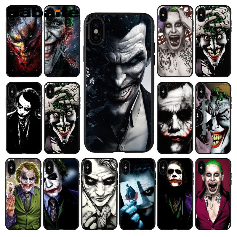 Babaite Batman Dark Knight Joker Karta  TPU Soft Silicone Black Phone Case for iPhone 5 5Sx 6 7 7plus 8 8Plus X XS MAX XR