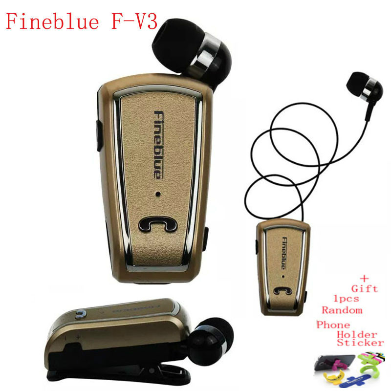 Fineblue F-V3 Bluetooth Headset Mini Wireless Driver Auriculares Stereo Retractable Clip Audifonos Running Earphone for Gym Fone 3in1 mini bluetooth headset kulaklik usb car charger safety hammer micro wireless earphone for samsung galaxy s7 auriculares