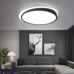 Lampy sufitowe do salonu sypialni oświetlenie kuchni oprawa Lamparas de techo biały/czarny kolor montażu podtynkowego oświetlenie sufitowe lampy w Oświetlenie sufitowe od Lampy i oświetlenie na