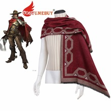 CostumeBuy Game Jesse McCree Shawl Red Wrap Adult Unisex Cosplay Scarf Props L920