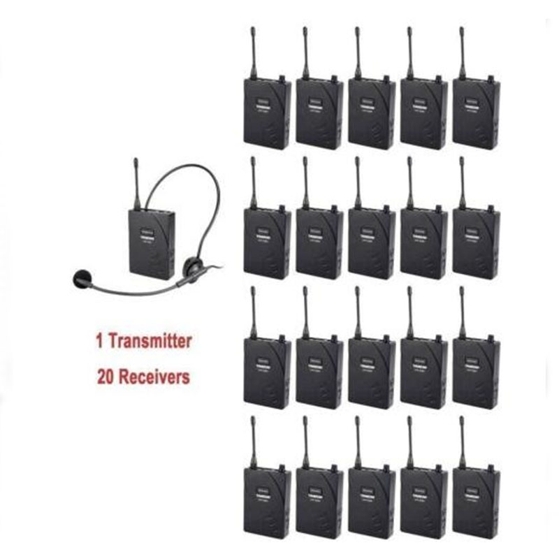 US $550 99  TAKSTAR UHF Portable 1 Transmitter 20 Receiver Wireless Audio  System Integrate Used For Tour Guiding Church Trade Fair Meeting-in