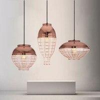 Nordice дизайн светодиодный подвесной светильник Медь цвет чердак подвесной светильник из розового золота hanglamp E27 светодиодный потолочная лам