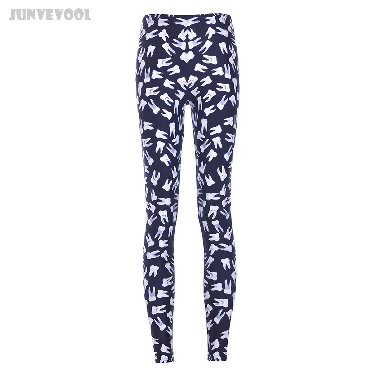 a6103620c293 Fitness Woman Leggings Tooth Printed Trousers Women High Waist Skinny  Stretch Sweatpants Funny Pencil Fit Pants Capris Legging