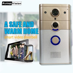 ZJ008 Wireless Doorbell Ring Chime Door Bell Video Camera WiFi IP 720P  PIR Night Vision Two Way Audio suppoer Android IOS phone