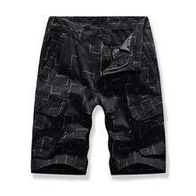 Multi-color Board Shorts For Men Multi-pocket Fashion pattern Summer Cargo black Khaki Navy blue