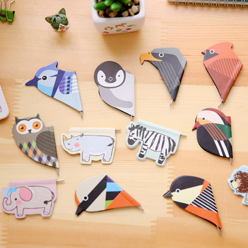 500 Pcs/Lot Cute Animal Mini Magnetic Bookmark Ballpoint Pen Birds Magnet Book Mark Stationery School Supplies