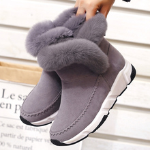New Woman Shoes Faux Fur Snow Boots 2018 Women Autumn Winter Slip-on Ankle Booties Plush Warm Outdoor Non-slip Fashion Sneakers цены онлайн