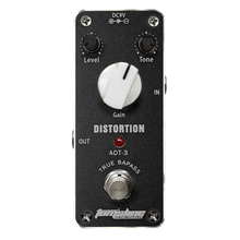 Aroma ADT-3 Mini Distortion Electric Guitar Effect Pedal With Fastener Tape Aluminum Alloy Housing True Bypass
