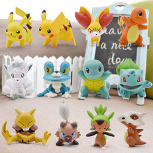 3cm Pikachu Bulbasaur Charmander Squirtle Froakie Chespin Fennekin Cubone Alola Vulpix Rockruff Anime Action Figure Doll Toys