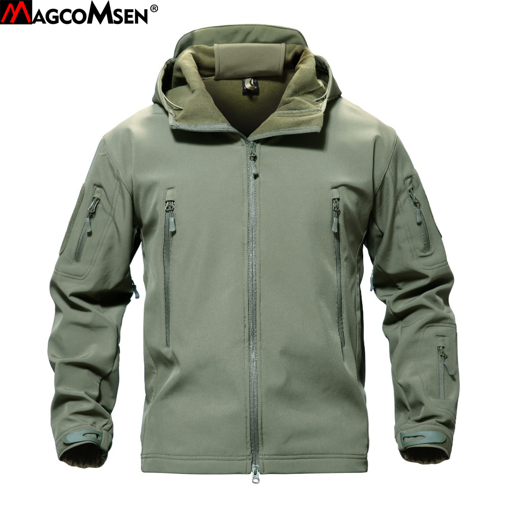 a24c725986c9e MAGCOMSEN Shark Skin Military Jacket Men Softshell Waterpoof Camo Clothes Tactical  Camouflage Army Hoody Jacket Male