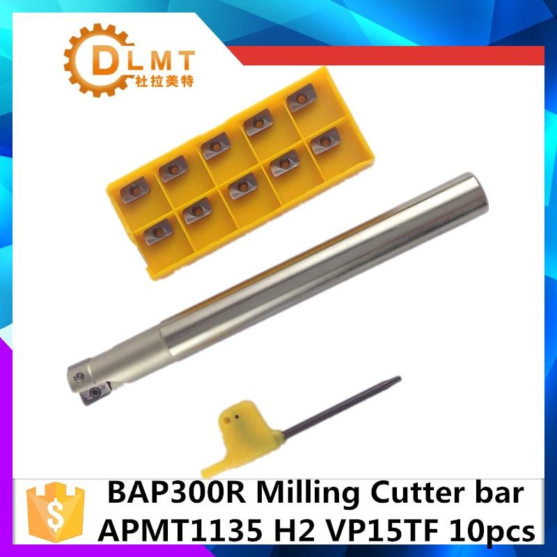 BAP300R C10 10 120 C12 12 120 C14 14 130 C16 16 150 C20 20 160+APMT1135 Indexable Milling Cutter Holder With Carbide CNC Insert