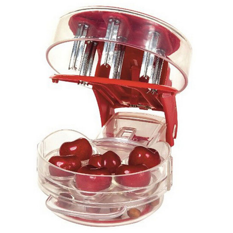 Cherry pitter 1 piece cherry take nuclear device food grade PP+ABS 6 cherries at once fruit & vegetable tool Free shipping Q-343
