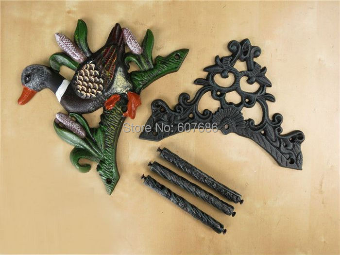 Cast Iron Wall Mounted Hose Holder Duck Hosepipe Pipe Reel Hose ...
