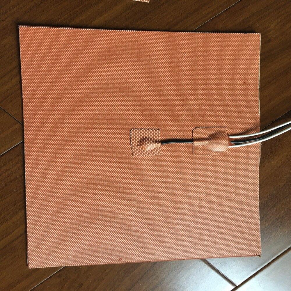 1500 W 230 V 350X350mm, thermistance w/NTC 100 K, réchauffeur d'imprimante 3D de réchauffeur de Silicone, réchauffeur industriel de tapis de chauffage de grande plaque de lit de chaleur
