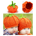 Fashion Handmade Infant Photography Prop Cute Persimmon Pumpkin Hat Baby Newborn Crochet Knit Hat Cap  High Quality