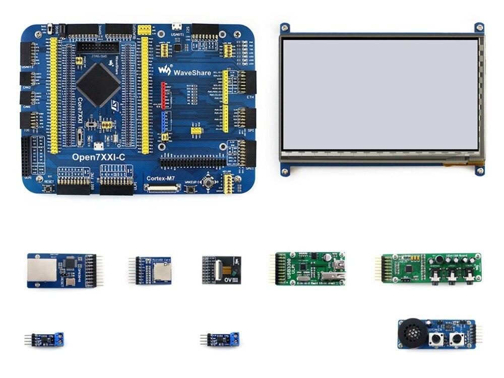 Waveshare Open746I-C STM32 Conseil de Développement Kit B pour STM32F746IGT6 MCU Cortex-M7 y compris 7 Tactile LCD et d'autres modules
