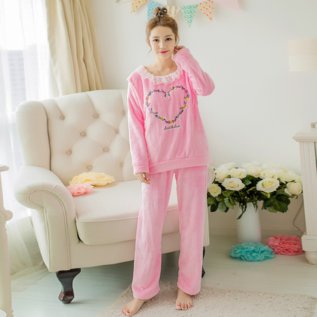 New Winter Breast Feeding Clothes For Pregnant Women Maternity Pajamas Clothing Feeding Suit Fashion Sleepwear Nursing Set