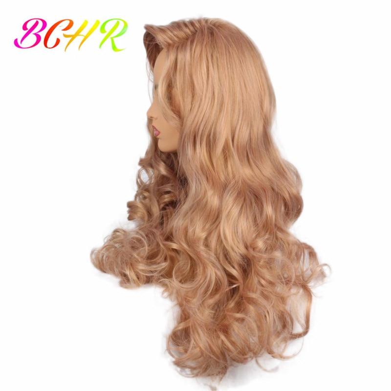BCHR långblond vågig syntetisk peruk för kvinnor med stora byte - Syntetiskt hår - Foto 3