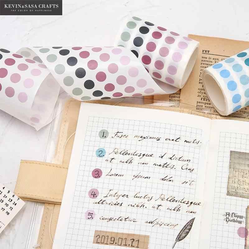 336 sztuk/partia kolorowe kropki taśmy Washi japoński papier Diy Planner taśmy maskujące taśmy samoprzylepne naklejki dekoracyjne taśmy papiernicze