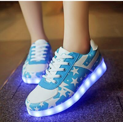 35-46size/ Usb Charging Basket Led Children Shoes With Light Up Kids Casual Boys&girls Luminous Sneakers Glowing Shoe Enfant Boys Children's Shoes