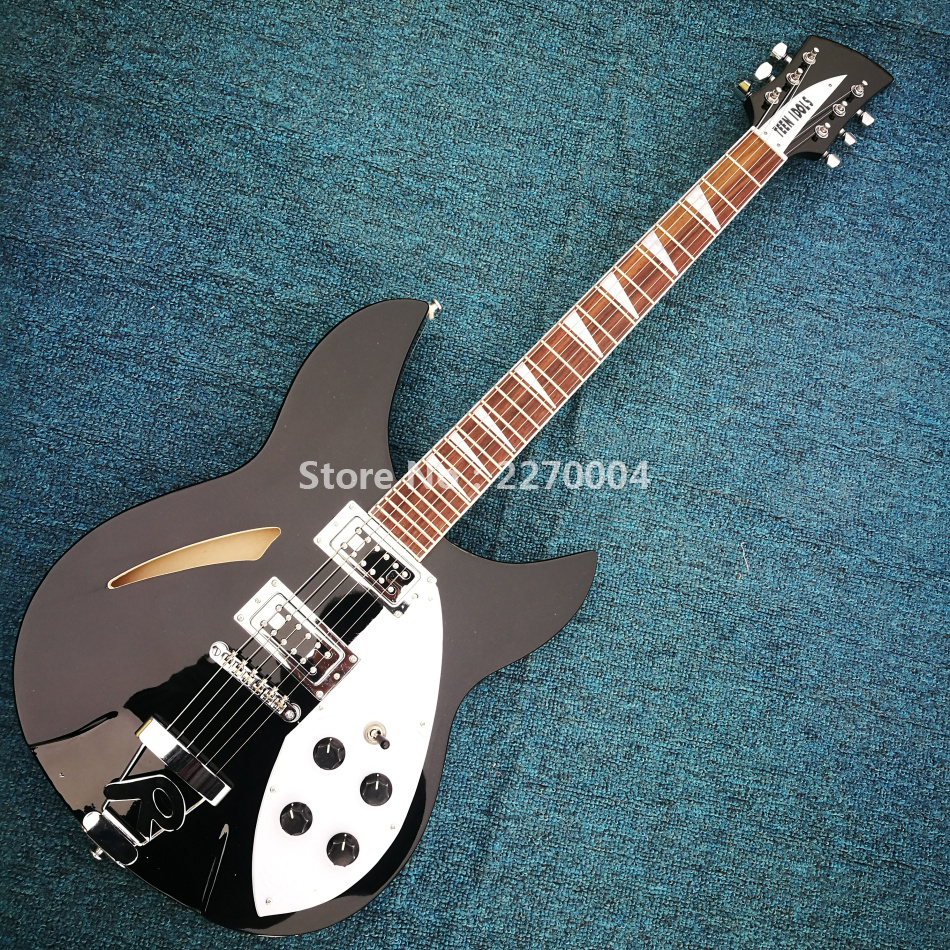 black jazz electric guitar good sound free shipping in guitar from sports entertainment on. Black Bedroom Furniture Sets. Home Design Ideas
