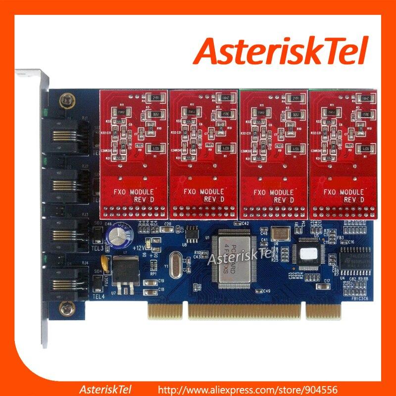 bilder für TDM400P VoIP stern-karte mit 4 FXS/FXO Module, Asterisk FXO karte Für Asterisk FreePBX Elastix Trixbox...