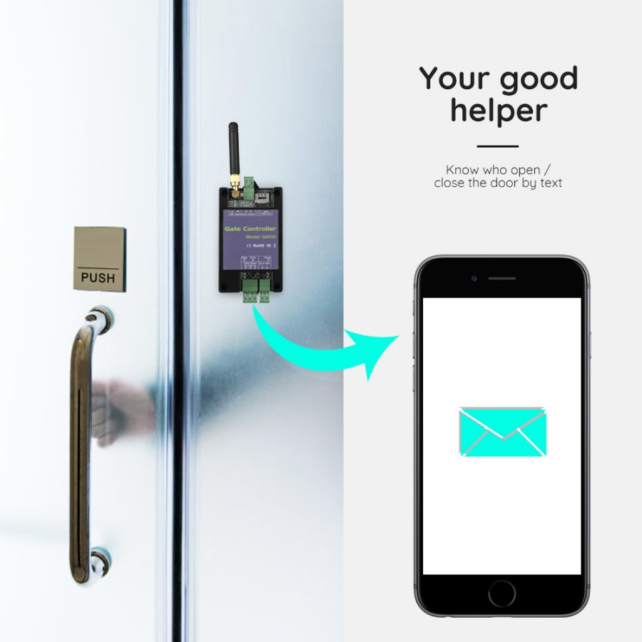 G200 GSM3G Smart Wireless DoorGarage Opener with Remote Access Control & Relay Switch for Pump By Free Phone Call SMS Command_f3