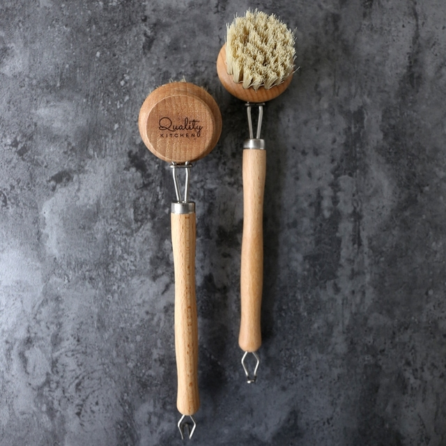 Natural Pan Cleaning Brush Wooden Handle Dish Cup Bottle Pot Washing Brushes Multifunctional Kitchen Cleaning Accessories Tools 5