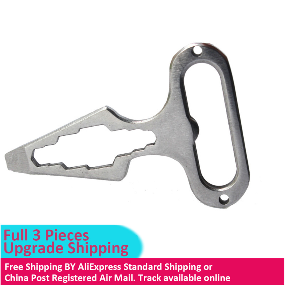 Self Defense Supplies Protection Tool Weapons Personal Self Defence Stainless Steel Bottle Opener Combination Wrench(China)
