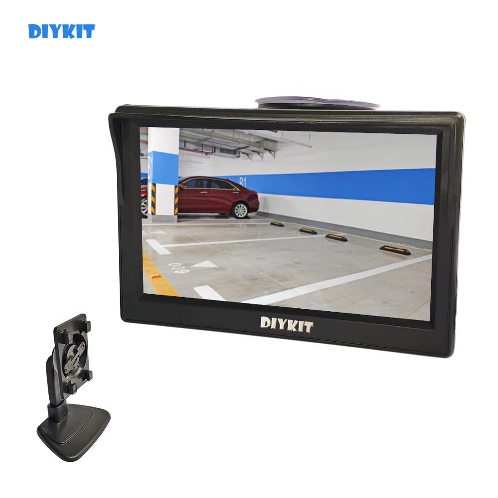 "DIYKIT 5 Inch Car Monitor TFT LCD 5"" HD Digital 16:9 800*480 Screen 2 Way Video Input For Reverse Rear View Camera DVD VCD"